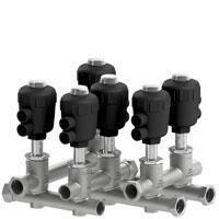 Modular valve system for variothermal temperature control