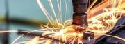 Spark spraying from welding